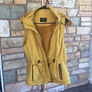 Mustard vest jacket
